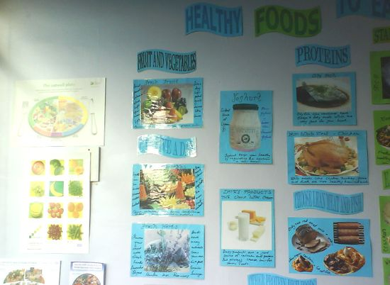 Healthy foods classroom display photo - Photo gallery - SparkleBox