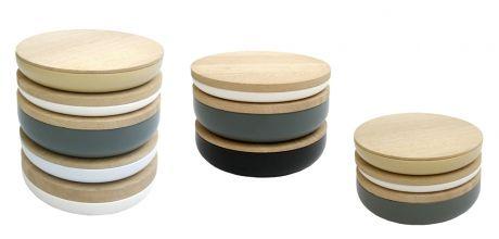 Ceramic bowls with oak lid, When Objects Work, design Vincent Van Duysen,