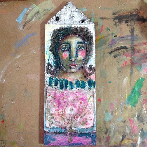"""bouquet"" #painting #art #mixedmedia #mystele"