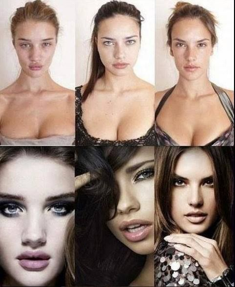 These are what a few Victoria's Secret models look like without makeup