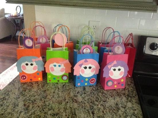 Lalaloopsy Birthday, handmade gift bags