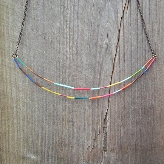 double rainbow necklace