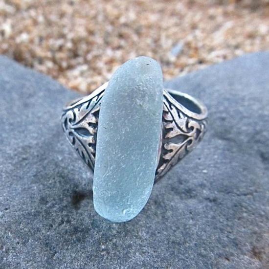 Sea Glass Rings, Hawaiian Beach Glass, Hawaii Beach jewelry, Gift for Her. $12.00, via Etsy.
