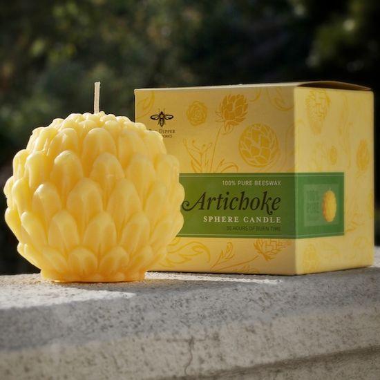Beeswax Sphere Candle: Artichoke #eco #organic #health #honeycolony