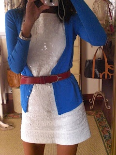 Love this color of blue with white