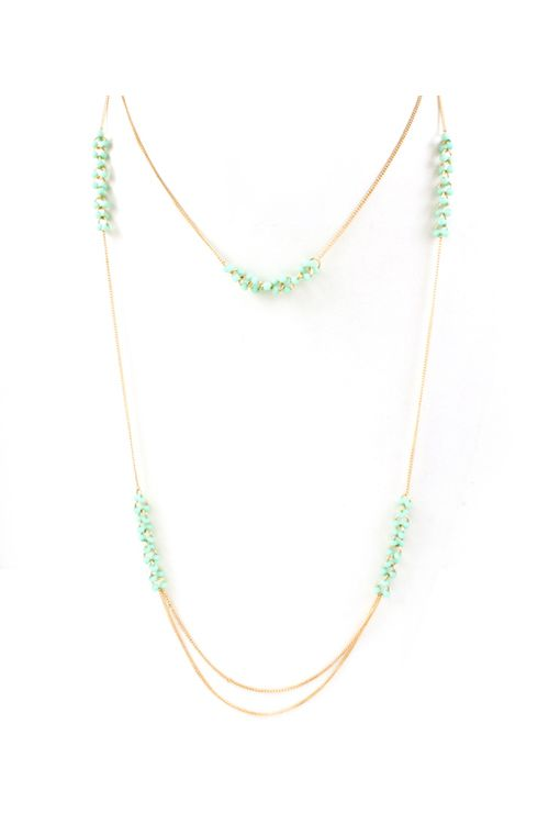 Layered Minty Necklace