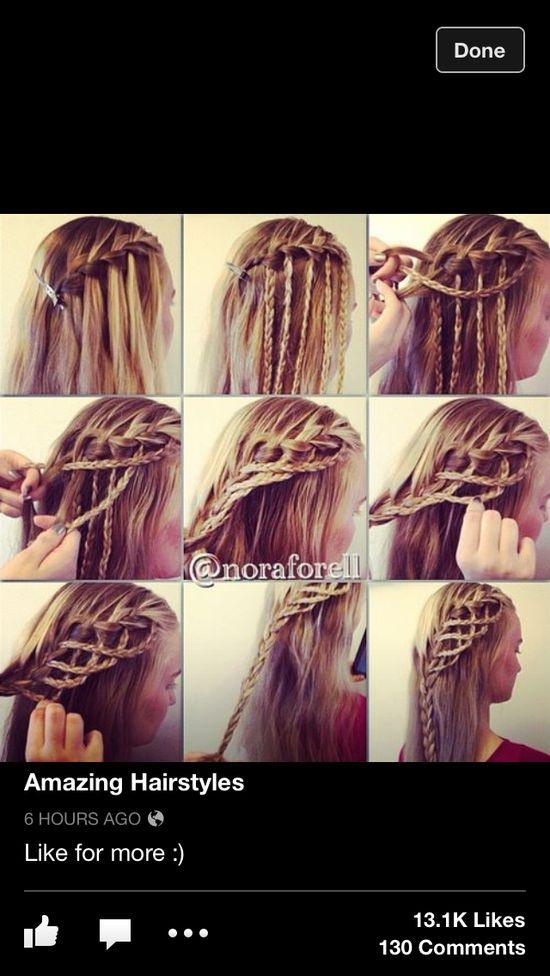 Blonde braided hair multiple braids