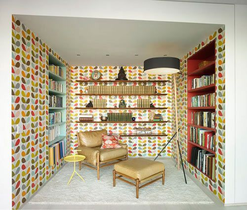 Orla Kiely wallpaper heaven!  \\\ Colorful, Modern Kid Friendly Apartment by Incorporated Architecture & Design