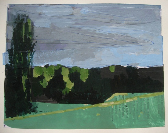 Original Landscape Collage Painting