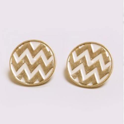 Chevron earrings.