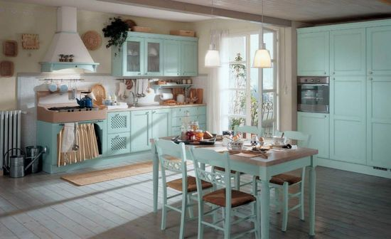 country style kitchen via Interior House Designs