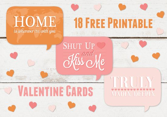 Valentine's Printable {thank you card shop}