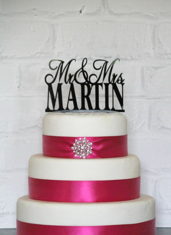 Wedding Cake Topper by ShopTheTop on Etsy, $30.00
