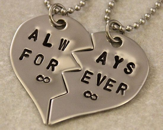 Always Forever Best Friend Gift, Couples Necklaces