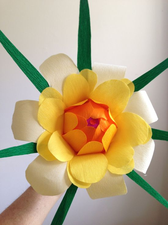 Large colorful handmade paper flowers  the by HappyHourFlower, $35.00