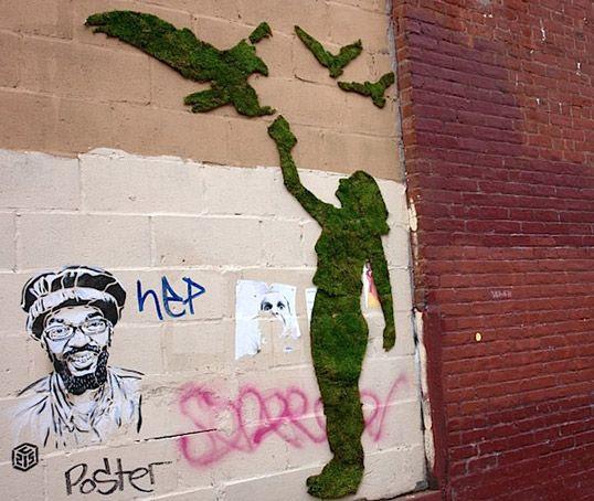 green graffiti.