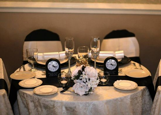 Head table -- wedding reception