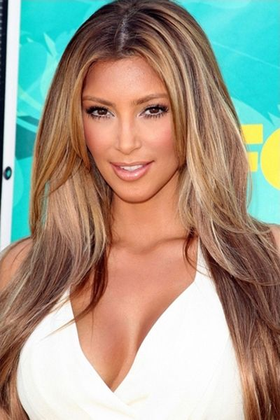 Kim Kardashian With Blonde Hairstyle