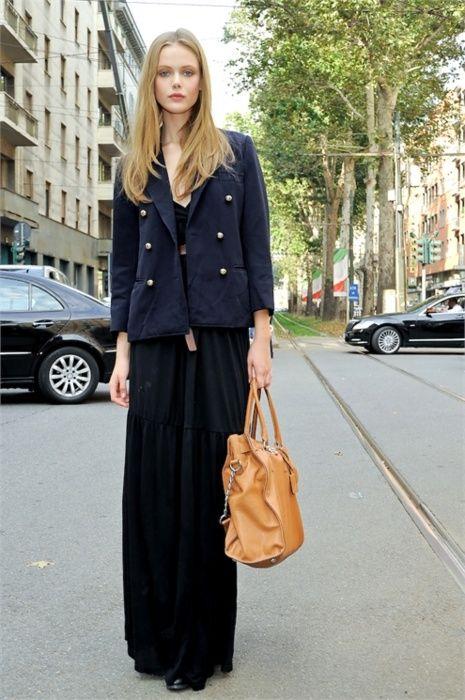 black maxi skirt