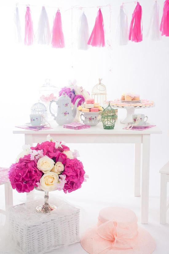 Tea Party Soiree with LOTS of Darling Ideas via Kara's Party Ideas