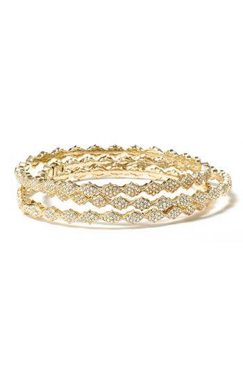 Crystal Filigree Bangle Bracelet