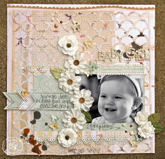 Baby Girl *Prima* - Scrapbook.com
