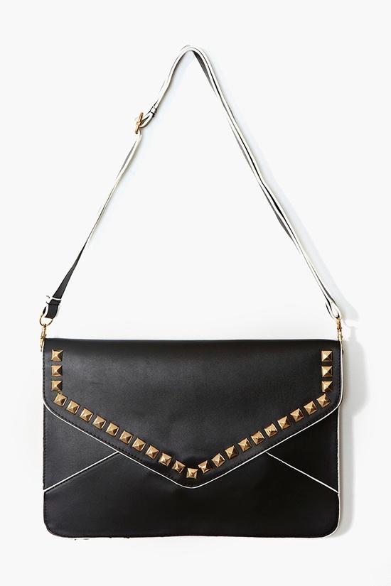 Studded Envelope Clutch - Black from Nasty Gal