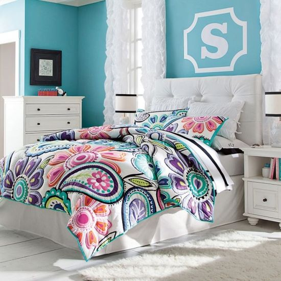 #Home #Decor: Furniture and Decorators: Kennedy Colorful Paisley Quilt + Sham