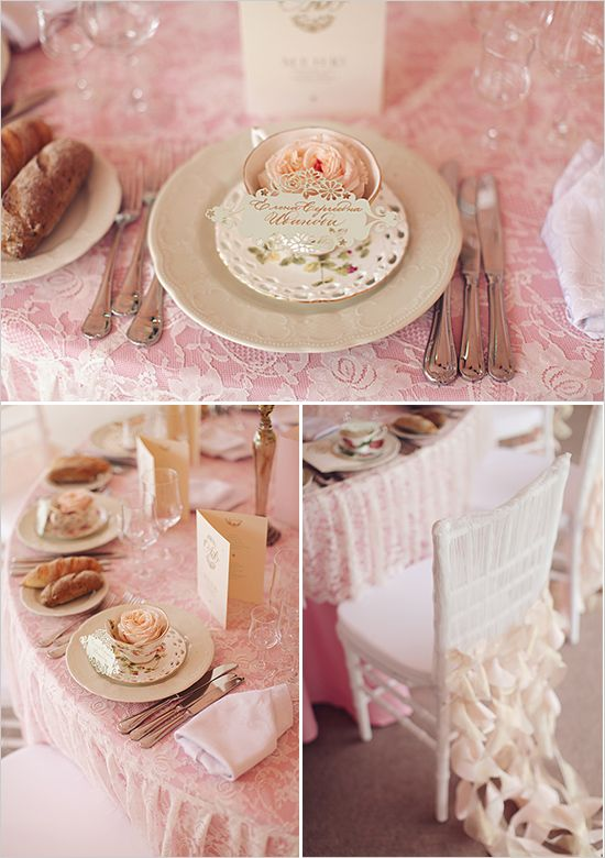 pink wedding decor and ideas