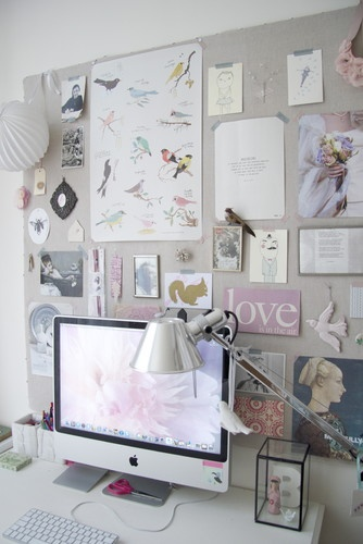 A creative workspace in a contemporary home office