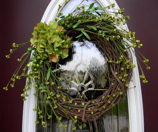 Hydrangea Grapevine Wreath
