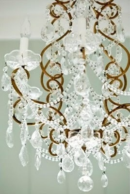 ...Crystal and Brass Chandelier