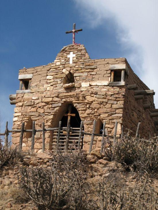 little stone church