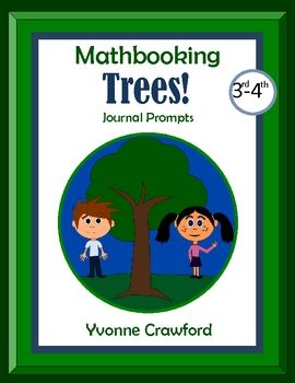 For 3rd and 4th grade - 10 math journal prompts with a fun tree theme.