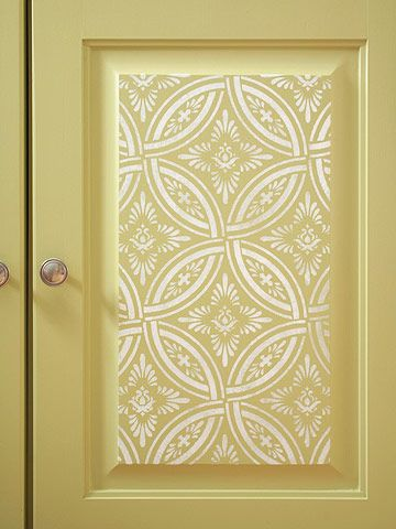 stenciled armoire