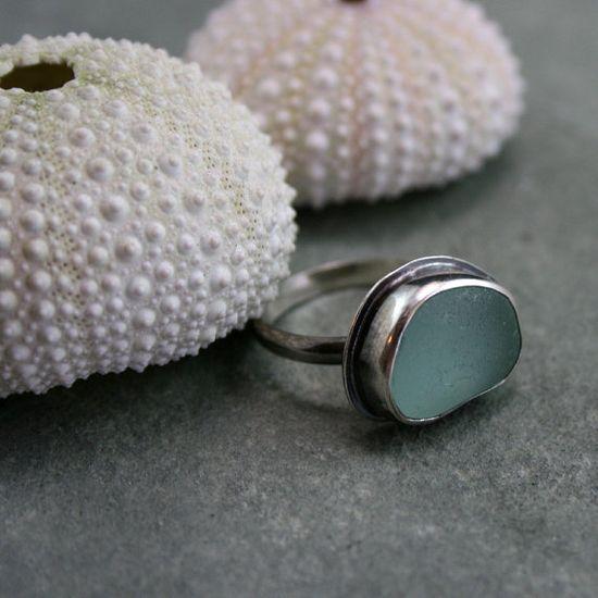 Pretty sea glass ring