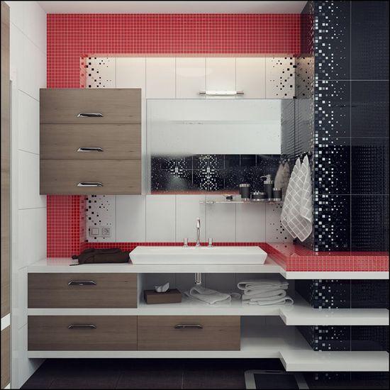 7 Modern Bathroom Designs with Different Special Color Theme by Rusu Ruslan   DesignRulz.com