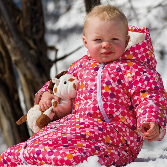 Roxy Baby Zip Code Suit. Perfect for going snowboarding with baby!