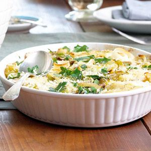 This potato side dish recipe combines goat cheese, leeks, panko, and Yukon gold potatoes. It'll be the hit of your Thanksgiving or special occasion.