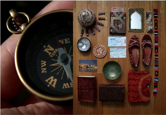 travel things organized neatly (Emma