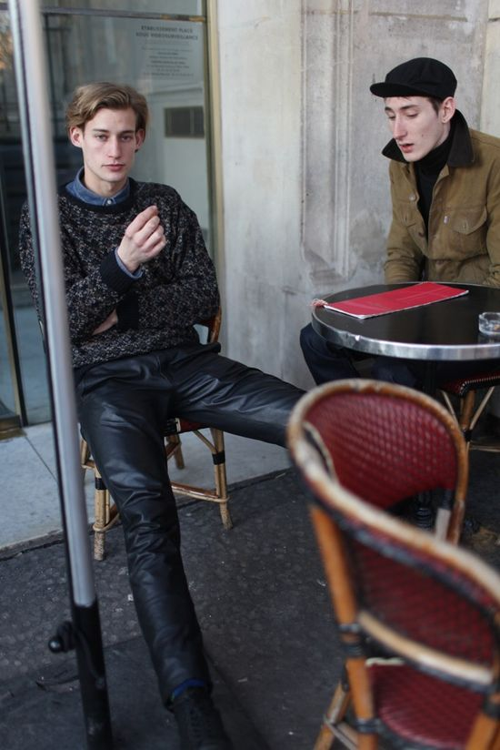 They Are Wearing: Paris Men's Fashion Week #leather pants