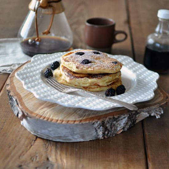 Berry Ricotta Pancakes Wide Berry Ricotta Pancakes from Pancakes by Adrianna Adarme