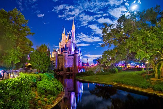 Cinderella Castle by the Light of the Moon - #Disney Tourist Blog. Read more: www.disneytourist...