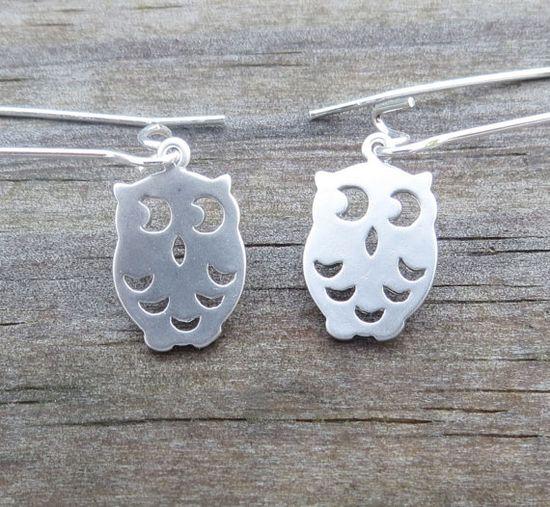 Beach Owl Earrings by WaveofLife on Etsy, $16.00