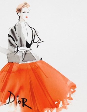 I love these fashion illustrations by Davis Downton