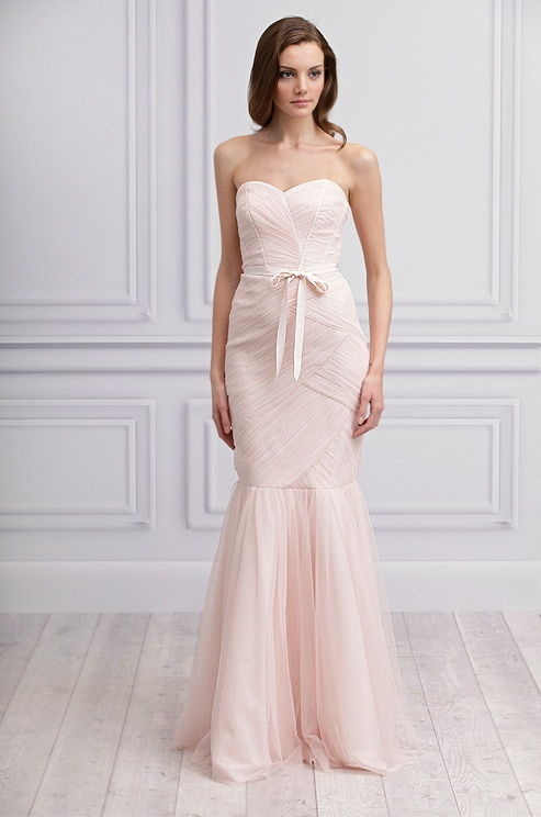 Pink #wedding dress from Monique Lhuillier, Spring 2013