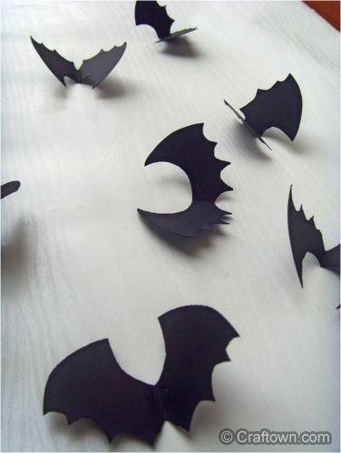 Halloween Crafts - Paper Bats