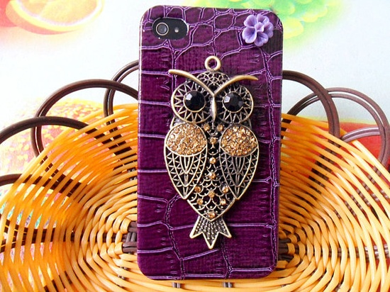 Hard Case Cover With Bronze Cute Owl For by braceletbanglecase, $12.00