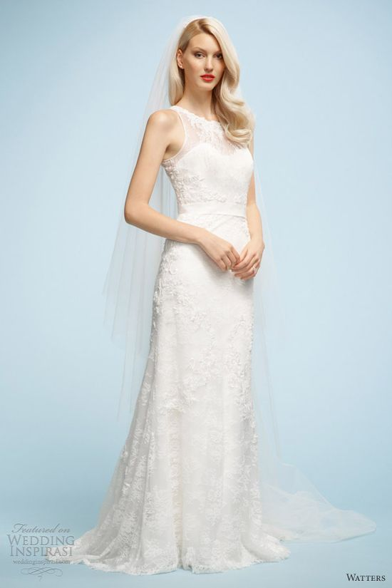 watters wedding dresses spring 2013 sonia sleeveless gown