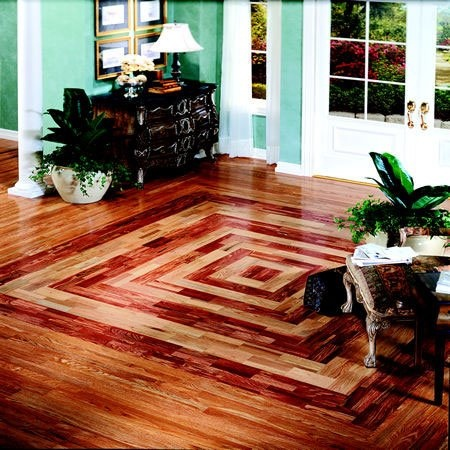 Hardwood Floor design. This not only looks great but will keep the kids occupied for hours.. especially little boys with their toy cars!